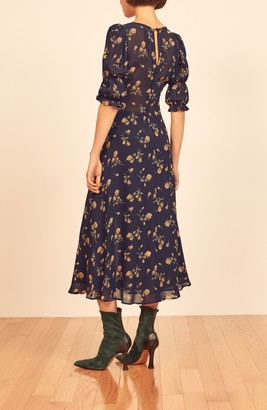 Reformation Larchmont Floral Midi Dress