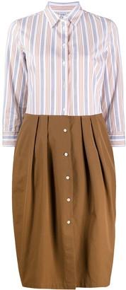 Contrast Shirt Dress