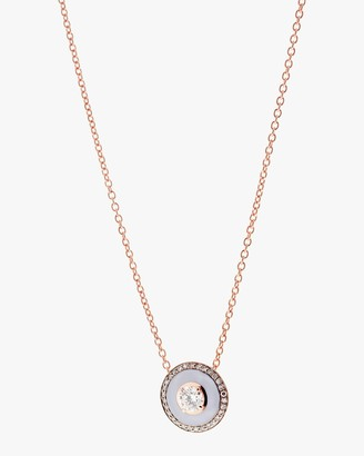 Selim Mouzannar Lilac Enamel and Diamond Pendant Necklace