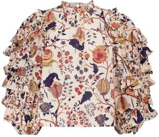 Ulla Johnson Pippa floral cotton blouse