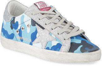 Golden Goose Superstar Glitter Camo Sneakers