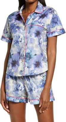 The Lazy Poet Nina Ocean Flowers Cotton Short Pajamas