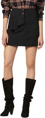 Sandro Janne Ruffle Detail Miniskirt