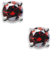 Macy's 10k White Gold Red Diamond Round Stud Earrings (1/6 ct. t.w.)