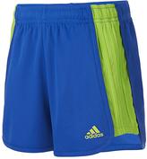 adidas Medium Blue The Block Drawstring Shorts - Girls