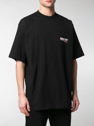 Balenciaga logo print oversized T-shirt