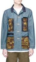 FDMTL x master-piece camouflage print pocket denim jacket