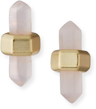 Kendra Scott Jamie Rose Quartz Stud Earrings