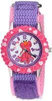 EWatchFactory Girl's 'Sesame Street' Quartz Stainless Steel and Nylon Automatic Watch, Color:Purple (Model: W003188)