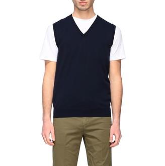 Paolo Pecora Suit Vest V-neck Vest In Basic Cotton