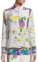 Etro Floral Button Front Blouse