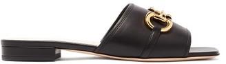 Gucci Deva Leather Mules - Womens - Black