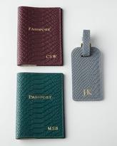 Graphic Image Python-Embossed Passport Case & Luggage Tag
