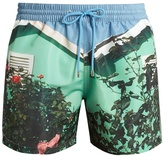 Paul Smith Beach Hut-print swim shorts
