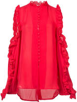 Ronny Kobo ruffled cut-out blouse