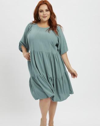 You & All Plus Linen Swing Dress