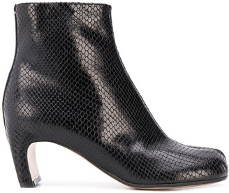 Maison Margiela snakeskin-effect Tabi boots