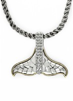 Effy Jewelry Effy 925 S. Silver & Gold Diamond Whale's Tail Pendant