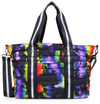 Think Royln Pride Wingman Tie-Dye Denim Quilted Tote