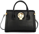 Celine Dion Octave Leather Satchel - Black