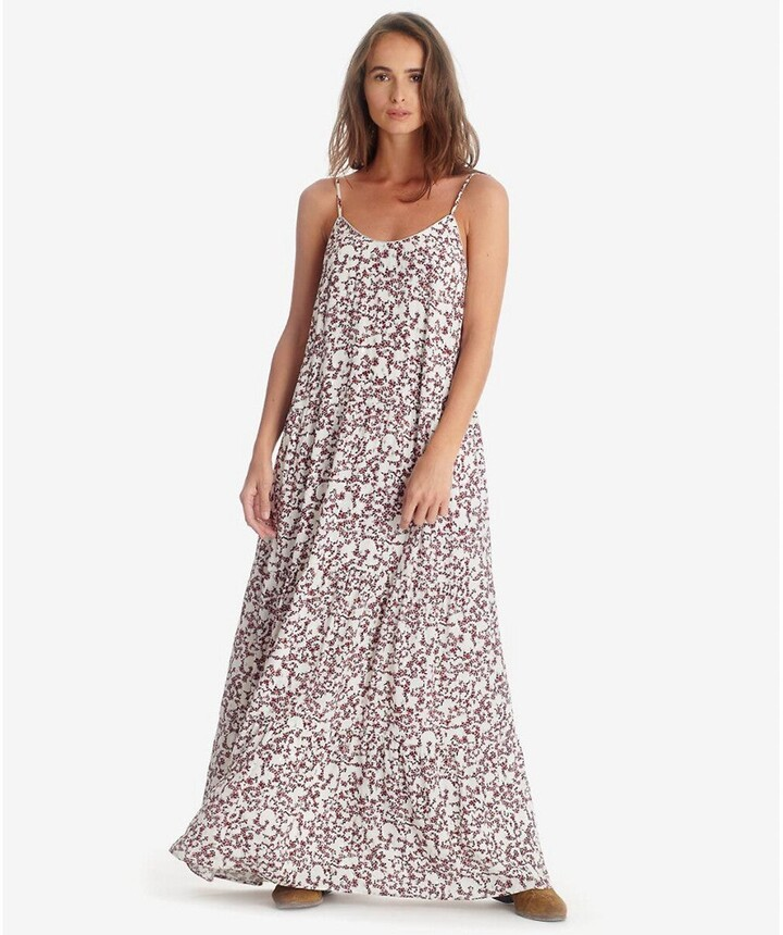 Thumbnail for your product : Le Temps Des Cerises Cami Maxi Dress in Floral Print