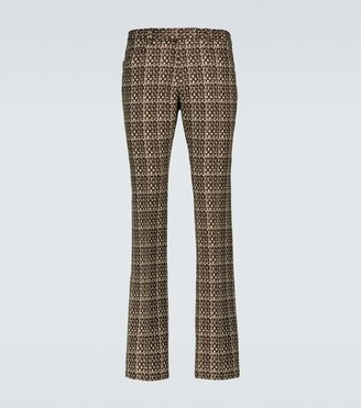 Gucci Flared woven pants