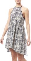 Paper Crane Printed Hi-Low Dress