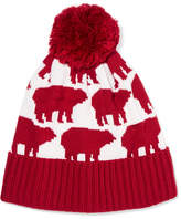 Perfect Moment - Bear Intarsia Wool-blend Beanie - Claret