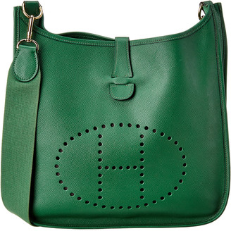Hermes Green Couchevel Leather Evelyne I Gm