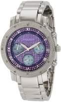 Akribos XXIV Women's AK440BL Grandiose Diamond Quartz Chronograph Blue Dial Watch