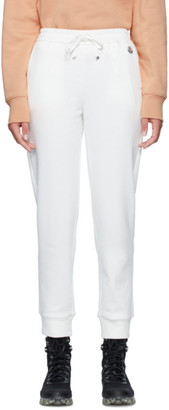 Moncler White Logo Lounge Pants