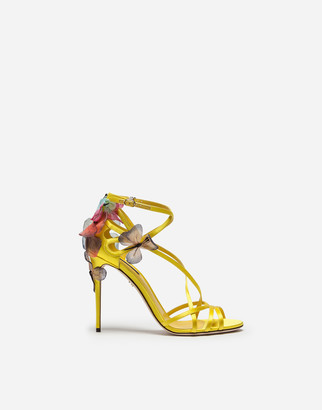 Dolce & Gabbana Satin Sandal With Embroidery