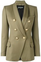 Balmain double breasted blazer - women - Cotton/Viscose/Wool - 42