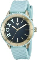 Roxy Women's RX/1013DBGP THE DEL MAR Gold-Tone and Light Silicone Strap Watch