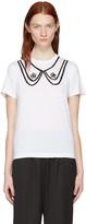 Comme des Garcons White Collar Print T-Shirt