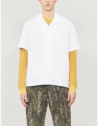 Obey Market patch-pocket woven shirt