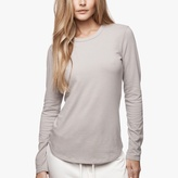 James Perse Brushed Jersey Long Sleeve Crew