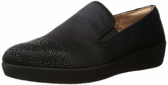 FitFlop Women's Superskate Crystal-Toe Loafer Flat