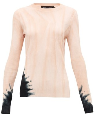 Proenza Schouler Tie-dye Rib-knitted Sweater - Pink Print
