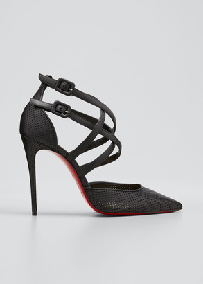 Christian Louboutin Victororilla 100mm Perforated Red Sole Pumps