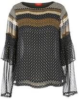 Rene Derhy Mesh Style Mix Print Blouse