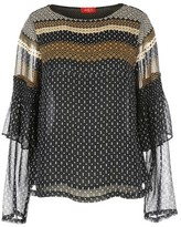 Rene Derhy Mix Print Blouse with Ruffled Detail
