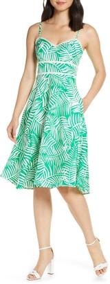 Brinker & Eliza Print Fit & Flare Dress