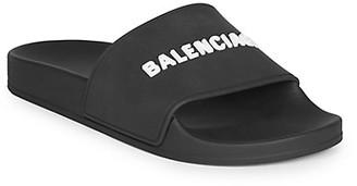 Balenciaga Logo Pool Slides