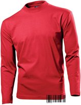 Underhood of London Long Sleeve Heavy T-shirt for Men - 100% Cotton - Regular Fit - Hanes Heavy-T