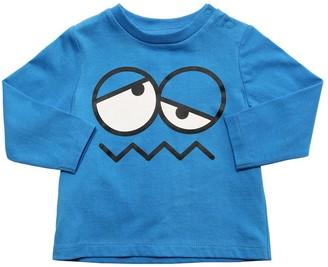 Stella McCartney Kids Face Print Cotton Jersey T-shirt