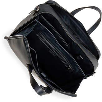 Men's Double-Zip Leather Briefcase Bag