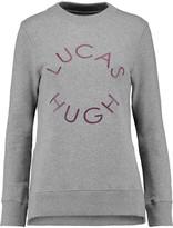Lucas Hugh Printed cotton-blend sweatshirt