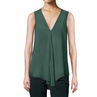 CUTUDE Women Embroidery Print T Shirts Short Sleeve Summer Tee Ladies Blouse Casual Vest Tank Tops Fashion (Green M)