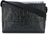 Emporio Armani croc effect messenger bag